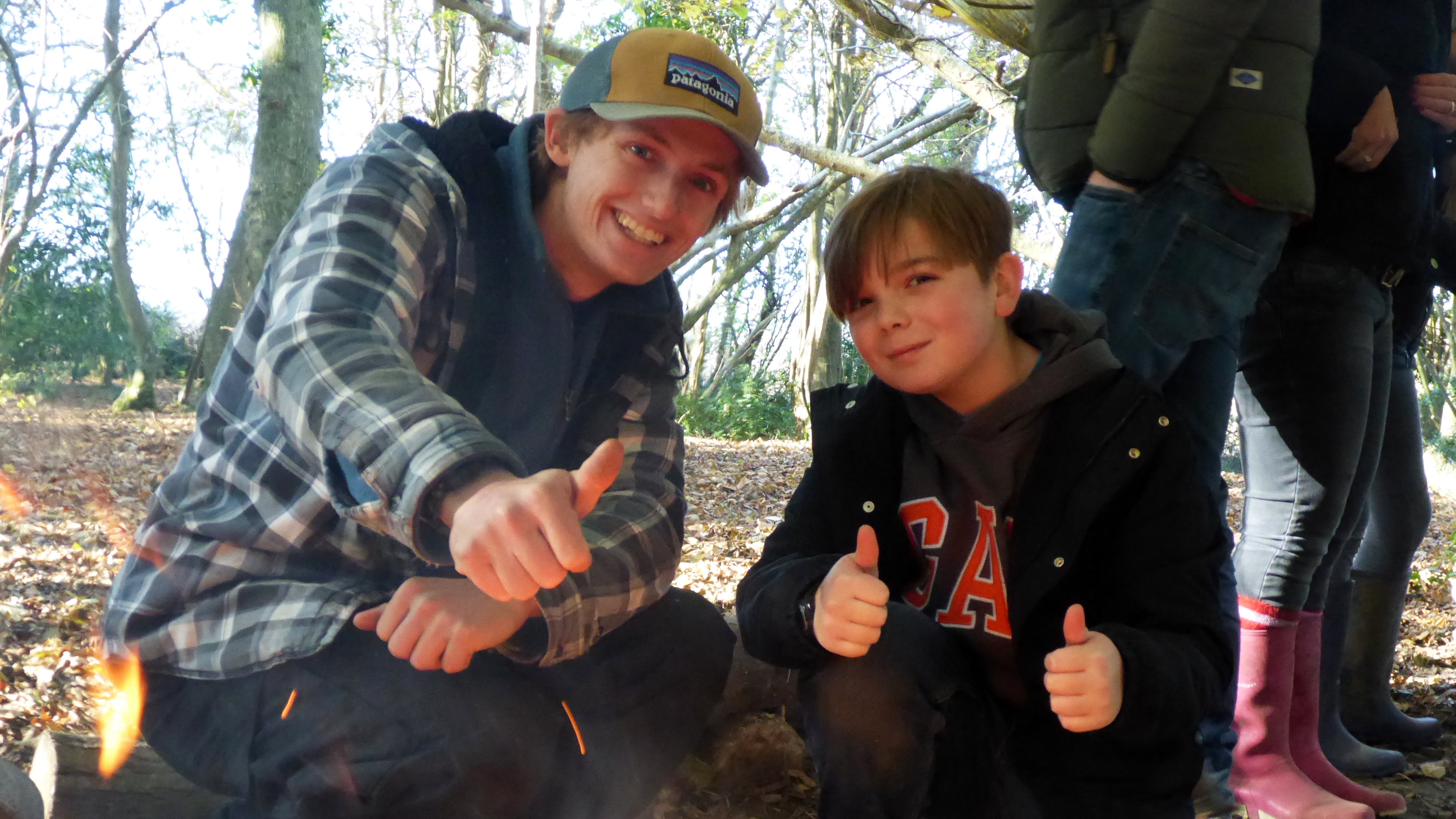 Bushcraft. Thumbs up