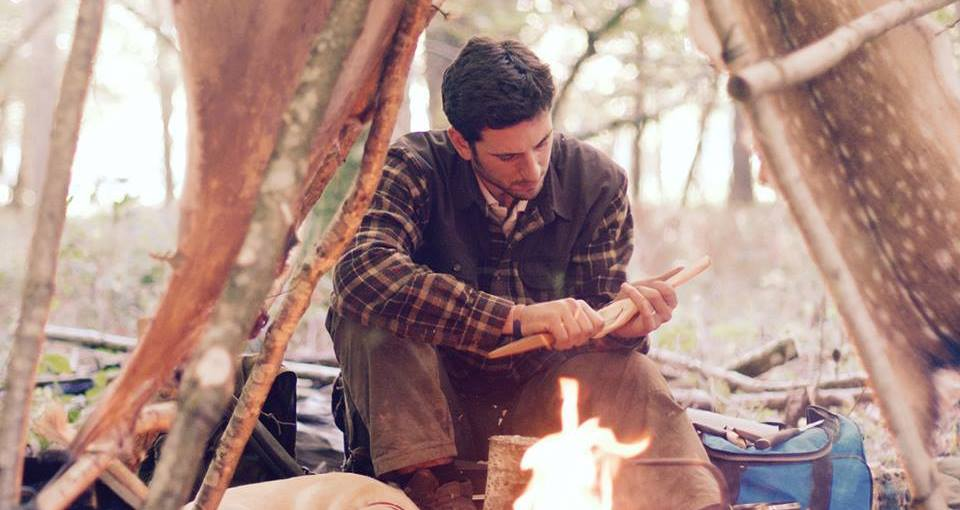 Bushcraft. Man
